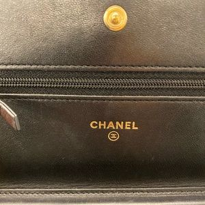 CHANEL Bags - SOLD- Chanel boy WOC in glazed iridescent calfskin